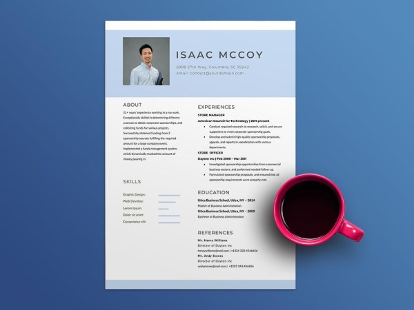 Free Store Officer Resume Template