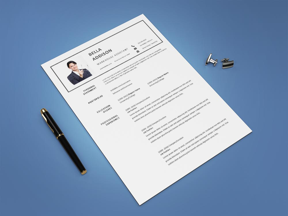 Free Warehouse Assistant Resume Template