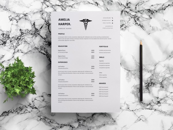 Free Cardiac Nurse Resume Template