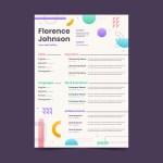 Flat Geometric Resume