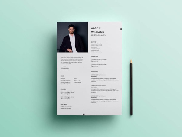 Free General Manager Resume Template