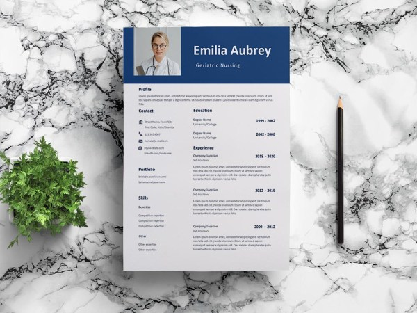 Free Geriatric Nursing Resume Template