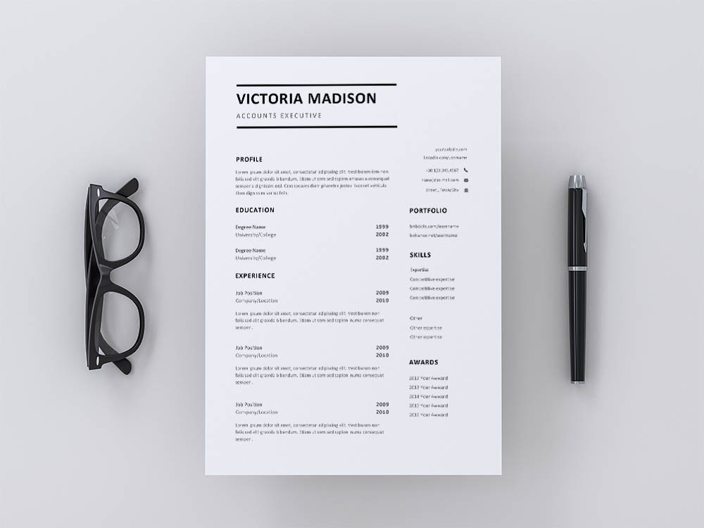 Free Accounts Executive Resume Template