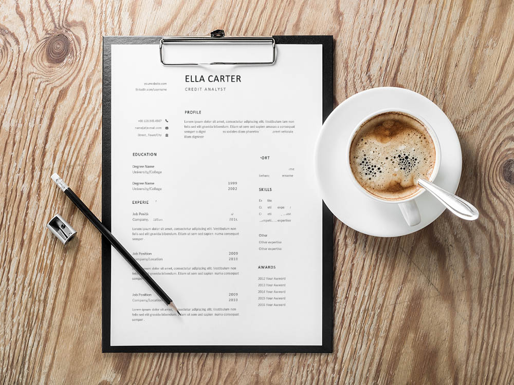 Free Credit Analyst Resume Template