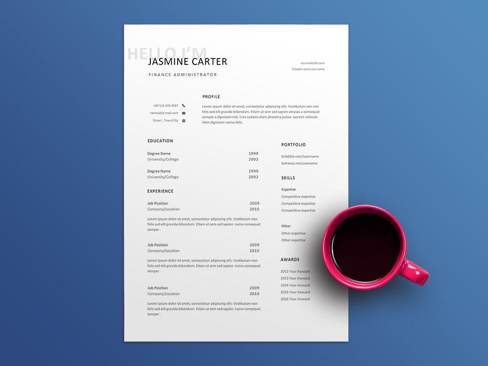 Free Finance Administrator Resume Template