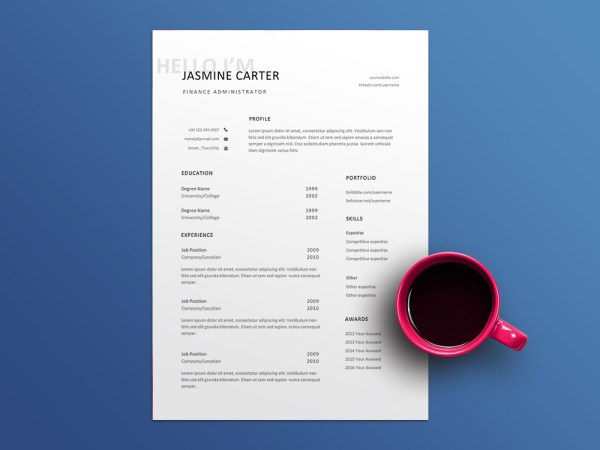 Free Finance Administrator Resume Template