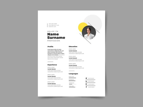 Free Supervisor Resume Template with Photo