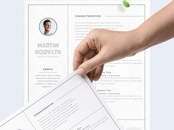 Free Simple Adobe XD Resume Template