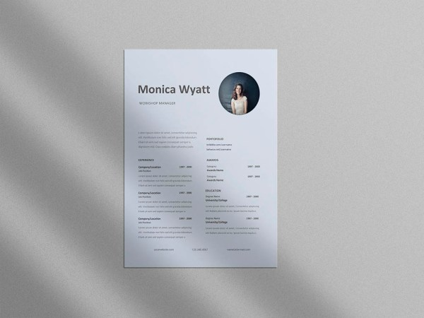 Free Workshop Manager Resume Template