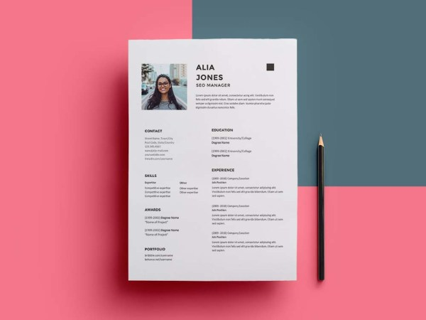 Free SEO Manager Resume Template