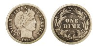 photo of a Barber Dime designed by Charles E. Barber