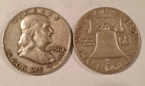 obverse and reverse of a franklin half dollar