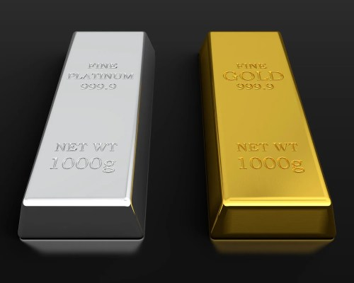 platinum and gold bars