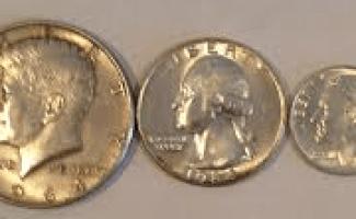 1964 half dollar, quarter and dime photo