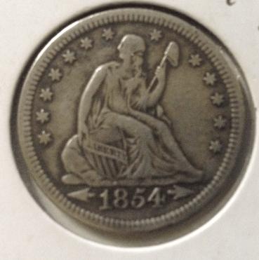 1854 with arrrow quarter