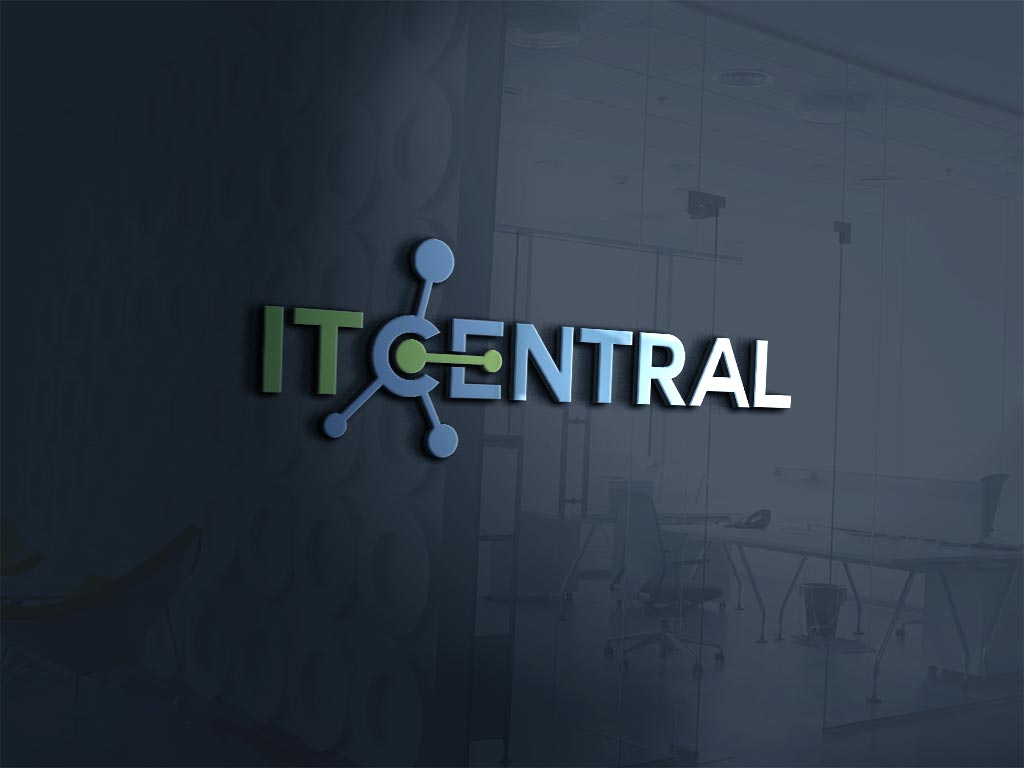 IT Central Logo on Glass wall