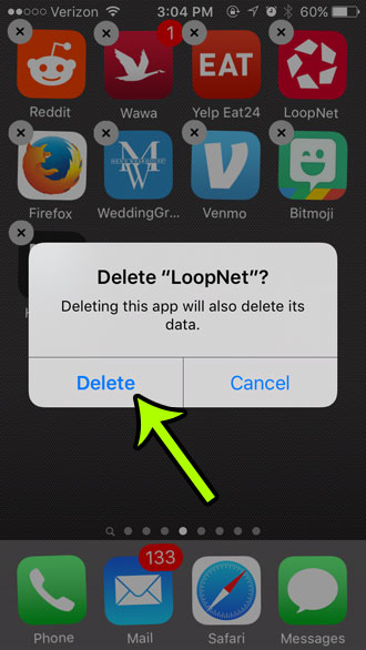 how to delete an app on an iphone 5