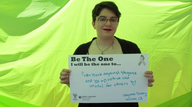 Push back against stigma and be a positive role model for others - Cheyenne, Millbrae