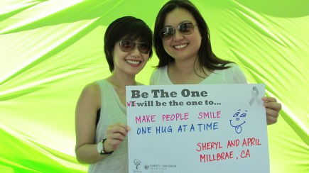 Make people smile one hug at a time - Sheryl & April, Millbrae