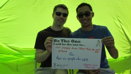 Let people know that they are NOT alone & there are people who CARE - Eugene and Kile, Daly City