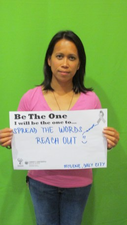 Spread the words and reach out - Mylene, Daly City