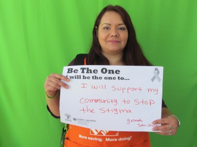 I will support my community to stop the stigma - Yolanda, San Mateo