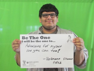 Advocate for myself and you can too! -Hollmann Perez, Fremont