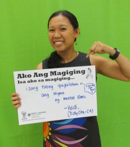 I sang taong ipaglalaban ang stigma ng mental illness - Heidi, Daly City