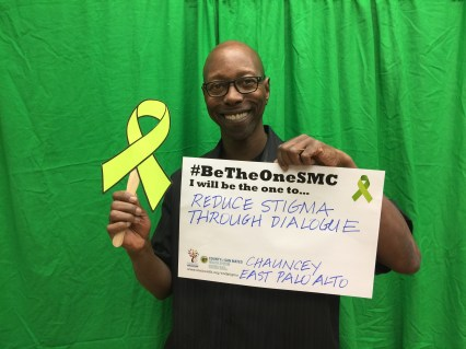 Reduce stigma through dialogue - Chauncey, East Palo Alto