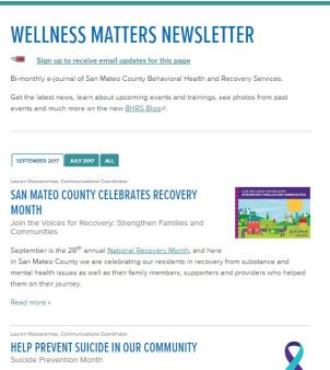 Wellness Matters Web Screenshot