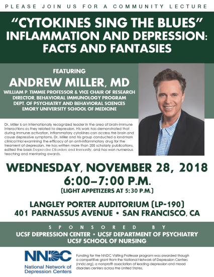 immunology and depression talk nov28