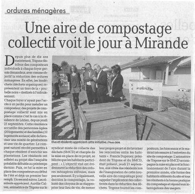 Inauguration d'une aire de compostage collectif à Mirande - La Dépêche du Midi