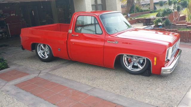 1973 1987 Red Chevy Trucks