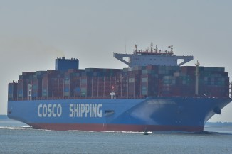 Aankomst Cosco Shipping Universe 23-07-'18-17