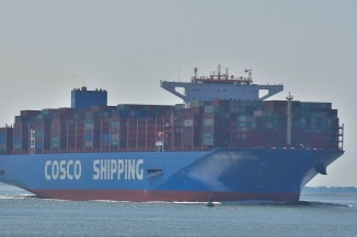 Aankomst Cosco Shipping Universe 23-07-'18-18