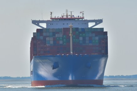 Aankomst Cosco Shipping Universe 23-07-'18-20
