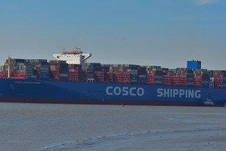 Aankomst Cosco Shipping Universe 23-07-'18-39