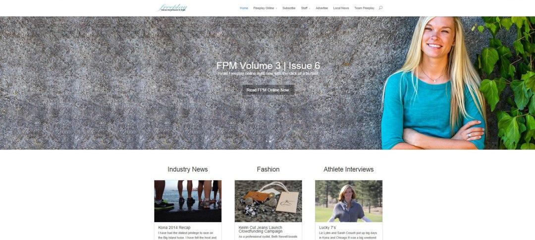 Freeplay Magazine website web design site Tayler Wiles Cycling Triathlon