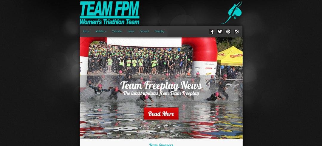 Web Design Website Site Graphic Design Freeplay Magazine Team Triathlon Athlete