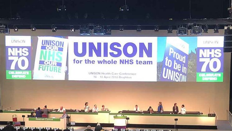 The NHS continues to be 'alarmingly under-funded', says health conference | Article, News | News | UNISON National