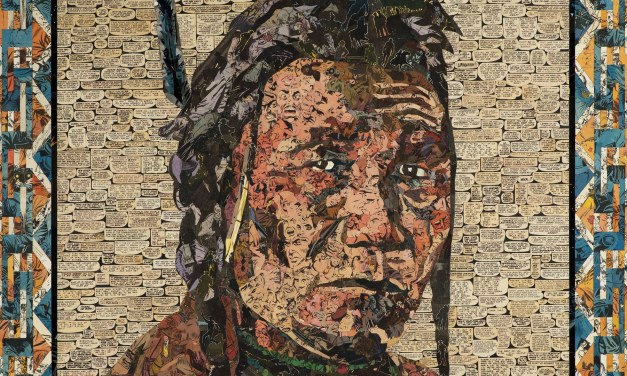 See artist Ben Turnbull's powerful portraits of Native Americans created from vintage comic books