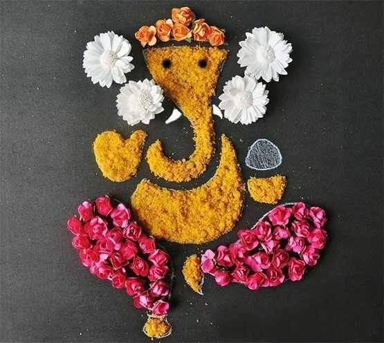 Image result for rangoli ganesh design for diwali 2016