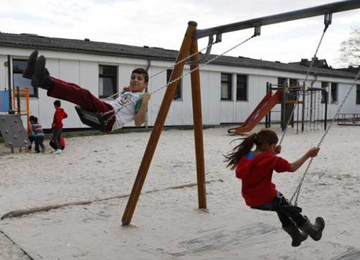 When we exclude girls from sport, we tell them that common spaces belong to men: playground today, public transport tomorrow. Photo: Reuters