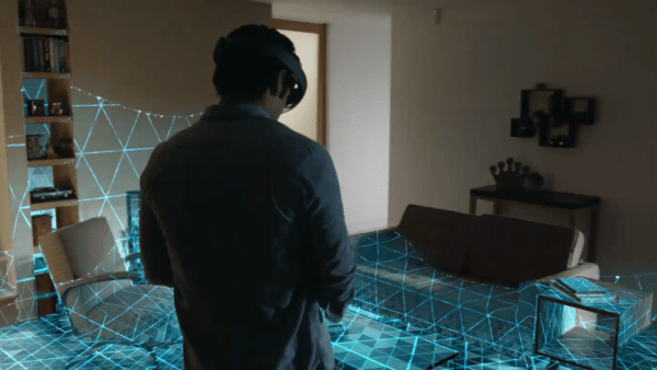 HoloLens room scan