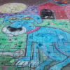 Rowland was one of the participating artists at KC's annual Chalk and Walk event on September 6 and 7.