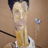 """Completed at age 26, """"Autoportrait"""" is Rowland's favorite piece out of his own works."""