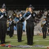 Band members perform during halftime. Photo by Haley Bell.