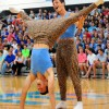 """Seniors Mitch Tamblyn and Josh Zillner perform their """"Mancer Dancer"""" routine with the soccer seniors. They danced to the song Dilemma by Nelly. Photo by James Wooldridge"""