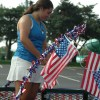 Freshmen class President Grace Chisholm adds decorations to their float. Photo by Morgan Browning