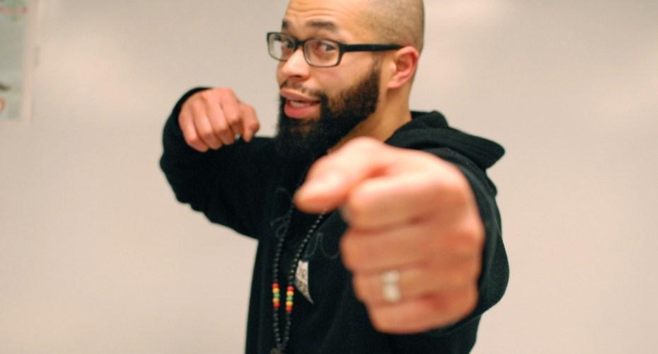 Teacher Working on Hip Hop Album